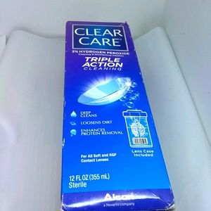 Clear care 3% peroxide cleansing 12 oz contact len